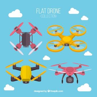 Ensemble de drones volant dans le ciel