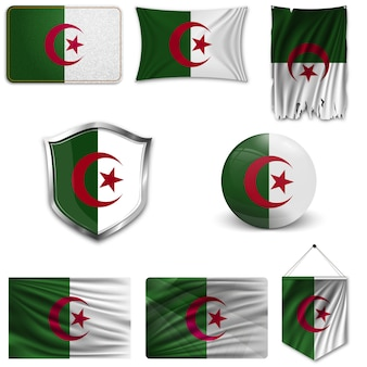 Ensemble du drapeau national de l'algérie