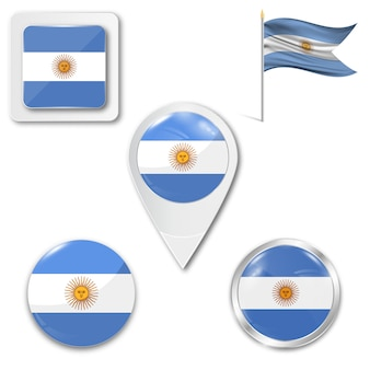 Ensemble du drapeau national de l'argentine