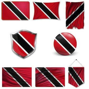 Ensemble du drapeau national de trinité et tobago