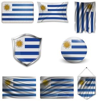 Ensemble du drapeau national de l'uruguay