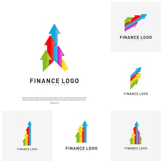 Ensemble du logo business stats finance