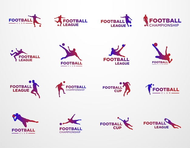 Ensemble du logo de la ligue et du championnat de football
