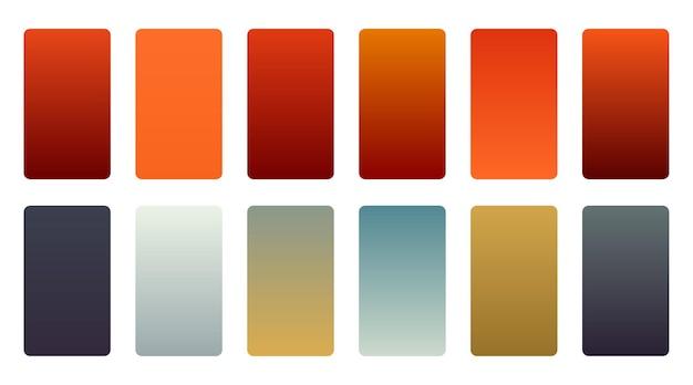 Ensemble d'échantillons de dégradés de couleurs précieux