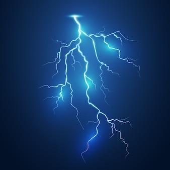 Ensemble d'éclairs. orage et éclairs. effets d'éclairage magiques et lumineux. illustration