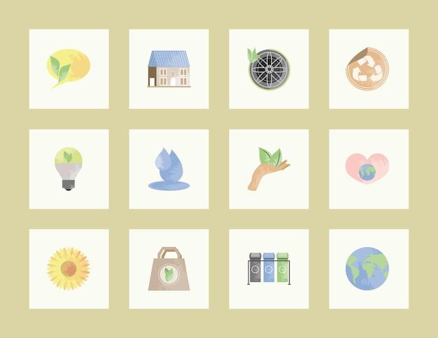 Ensemble d'écologie environnementale