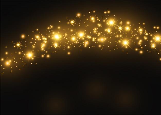 Ensemble d'effets de lumière transparente blanche lueur isolée, lumière parasite, explosion, paillettes, ligne, flash solaire, étincelle et étoiles. conception d'élément abstrait effet spécial. rayon d'éclat avec la foudre