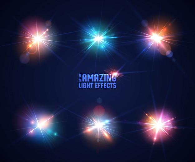 Ensemble d'effets de lumière