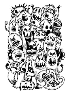 Ensemble d'effrayant
