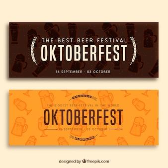 Ensemble élégant de bannières modernes les plus oktoberfest