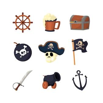 Ensemble d'élément de conception de pirate