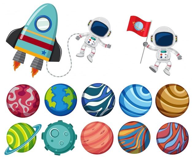 Un ensemble d'élément du système solaire