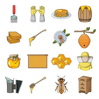 Ensemble d'éléments apicoles