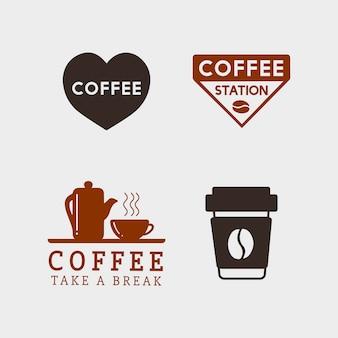 Ensemble d'éléments de café et de vecteur d'accessoires de café