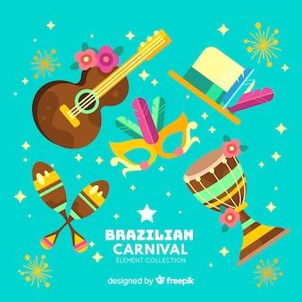 Ensemble d'éléments de carnaval brésilien