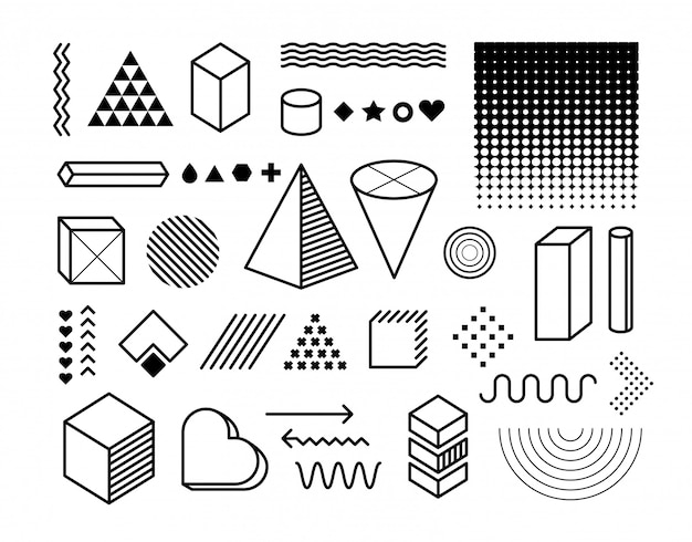 Ensemble d'éléments de conception. éléments graphiques à la mode