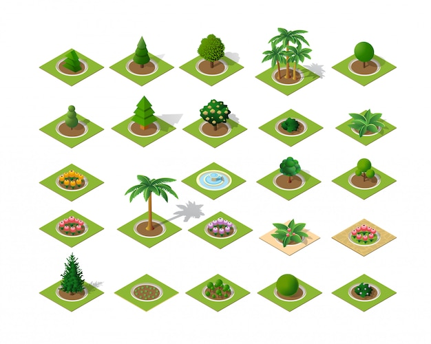 Ensemble d'éléments de conception isométrique