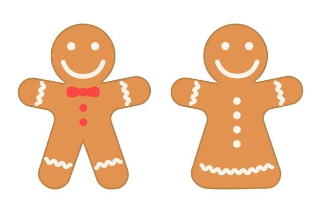Ensemble d'éléments de conception de noël brown cookies