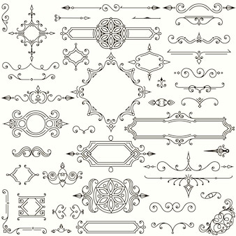 Ensemble d'éléments de conception rétro