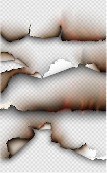 Ensemble D'éléments De Conception Transparente, Modèles Déchirés, Papier Déchiré. Vecteur Premium