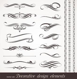 Ensemble d'éléments décoratifs s'épanouit design et décor de page.