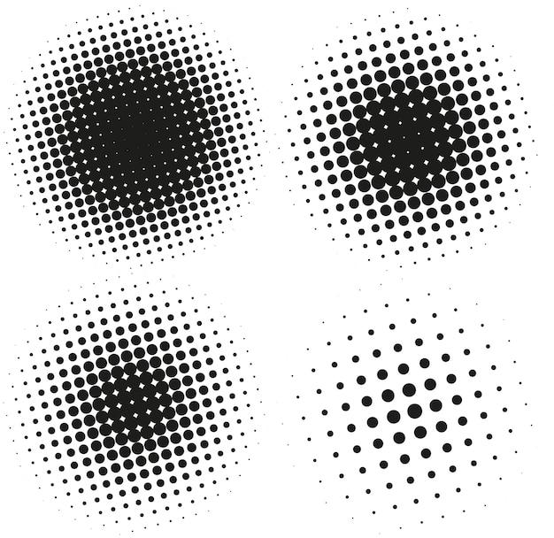 Ensemble d'éléments de demi-teintes abstraites