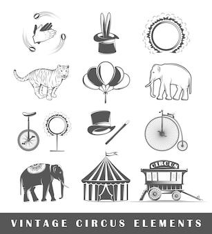 Ensemble d'éléments du cirque