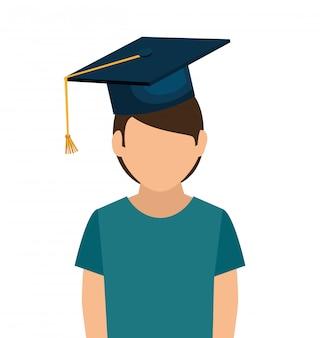 Ensemble d'éléments de l'école de remise des diplômes