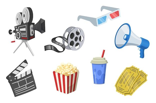 Ensemble D'éléments De Film Vecteur gratuit