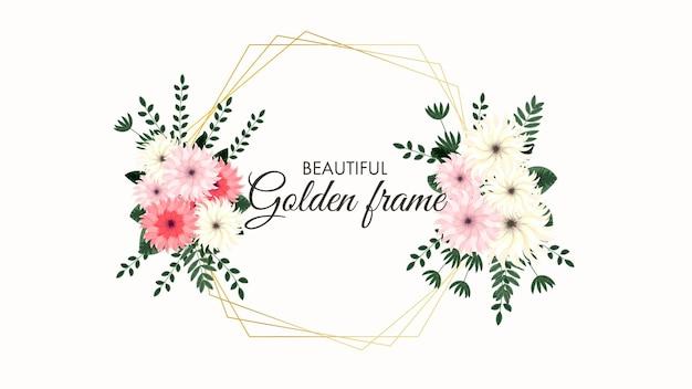 Ensemble d'éléments floraux vectoriels et de cadres de fleurs dans un style détaillé pour le mariage de cartes de voeux