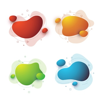 Ensemble d'éléments fluides graphiques modernes abstraits. bannières abstraites dégradées avec des formes liquides fluides.