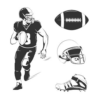 Ensemble d & # 39; éléments de football américain