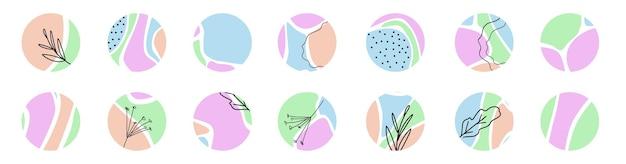 Ensemble d'éléments graphiques modernes abstraits du cercle fond de la forme liquide qui coule