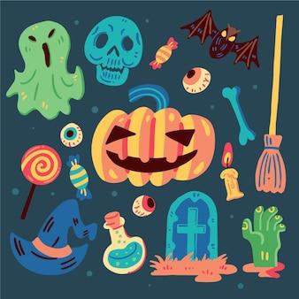 Ensemble d'éléments halloween