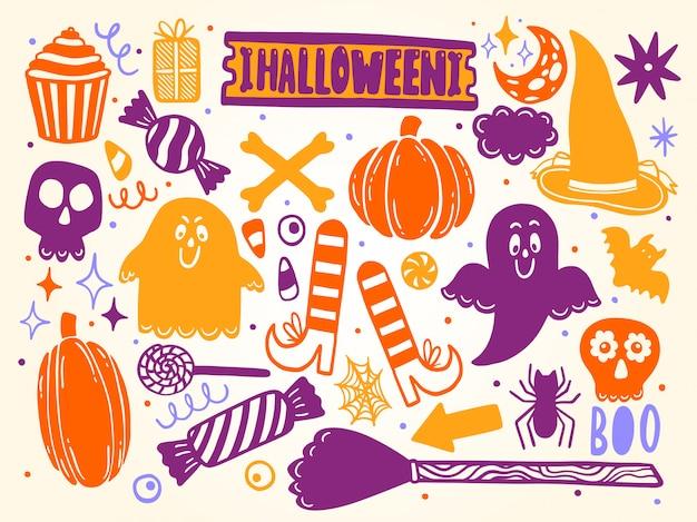 Ensemble d'éléments d'halloween