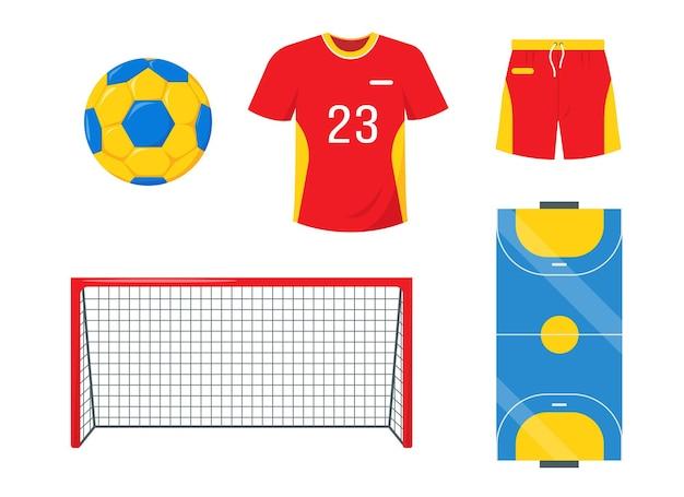 Ensemble d'éléments de handball