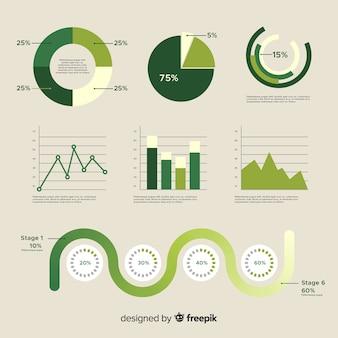 Ensemble d'éléments d'infographie différents
