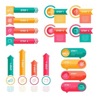 Ensemble D'éléments Infographiques Colorés Vecteur gratuit