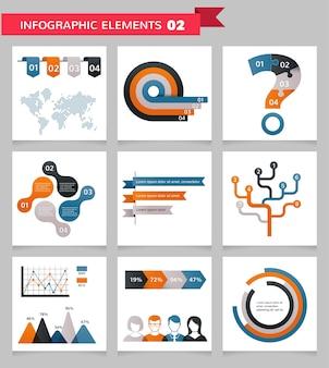 Ensemble d'éléments infographiques commerciaux