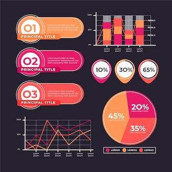 Ensemble d'éléments infographiques design plat