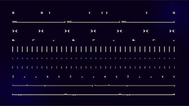 Ensemble d'éléments d'interface utilisateur moderne de science-fiction hud abstrait futuriste bon pour l'interface utilisateur de jeu