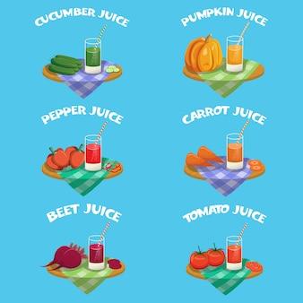 Ensemble D'éléments De Légumes Vecteur gratuit