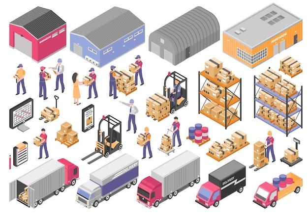 Ensemble d'éléments logistiques