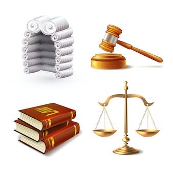 Ensemble d'éléments de loi