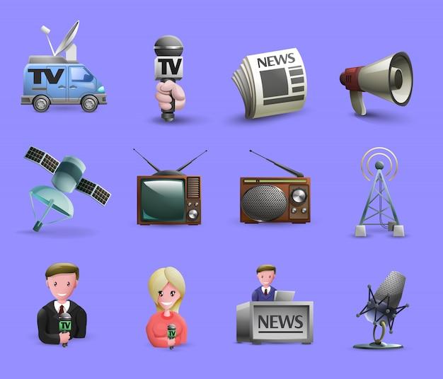 Ensemble d'éléments de médias de masse