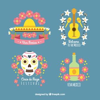 Ensemble d'éléments mexique