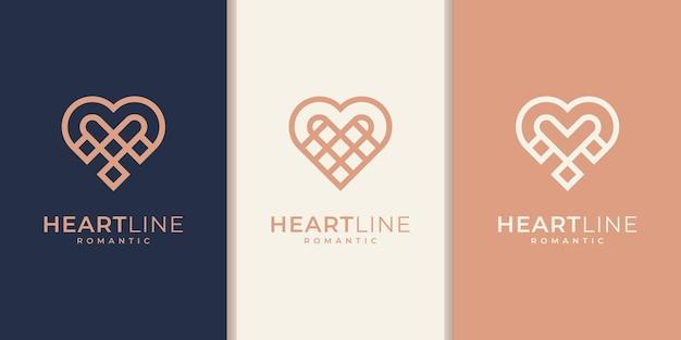 Ensemble d'éléments de modèle d'icône de symbole de coeur. concept de logotype de soins de santé. icône du logo de rencontres. modèle. collection de conception de logo