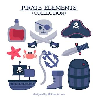 Ensemble d'éléments de navires et d'autres pirates