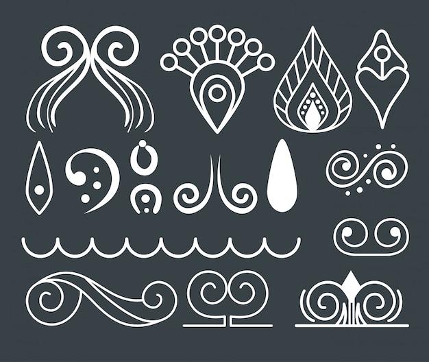 Ensemble d'éléments ornementaux pour la décoration