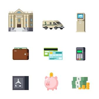 Ensemble d'éléments orthogonaux bancaires